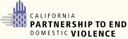 Logo Hyperlink To California Partnership To End Domestic Violence