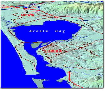 Map of Arcata Bay