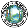 Humboldt County seal with text that reads County of Humboldt Home of the Redwoods