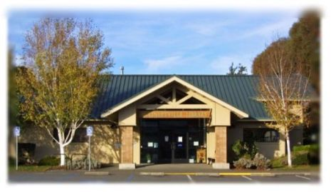 A photo of the McKinleyville Branch Library entrance.