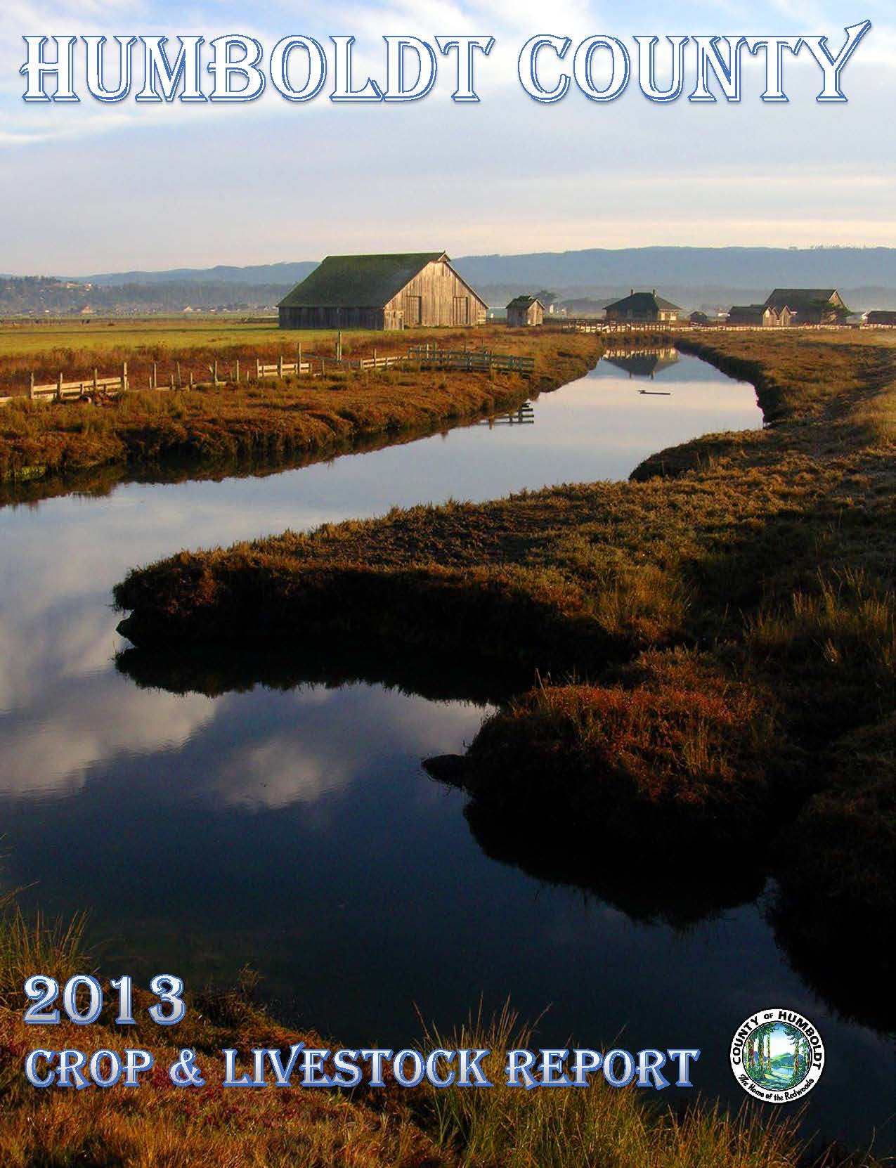 2013 CROP REPORT Cover