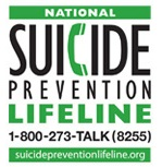 National Suicide Prevention 1-800-273-8255