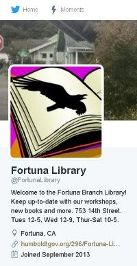 Image, Fortuna Twitter page shows an open book with a drawing of a raven in it.