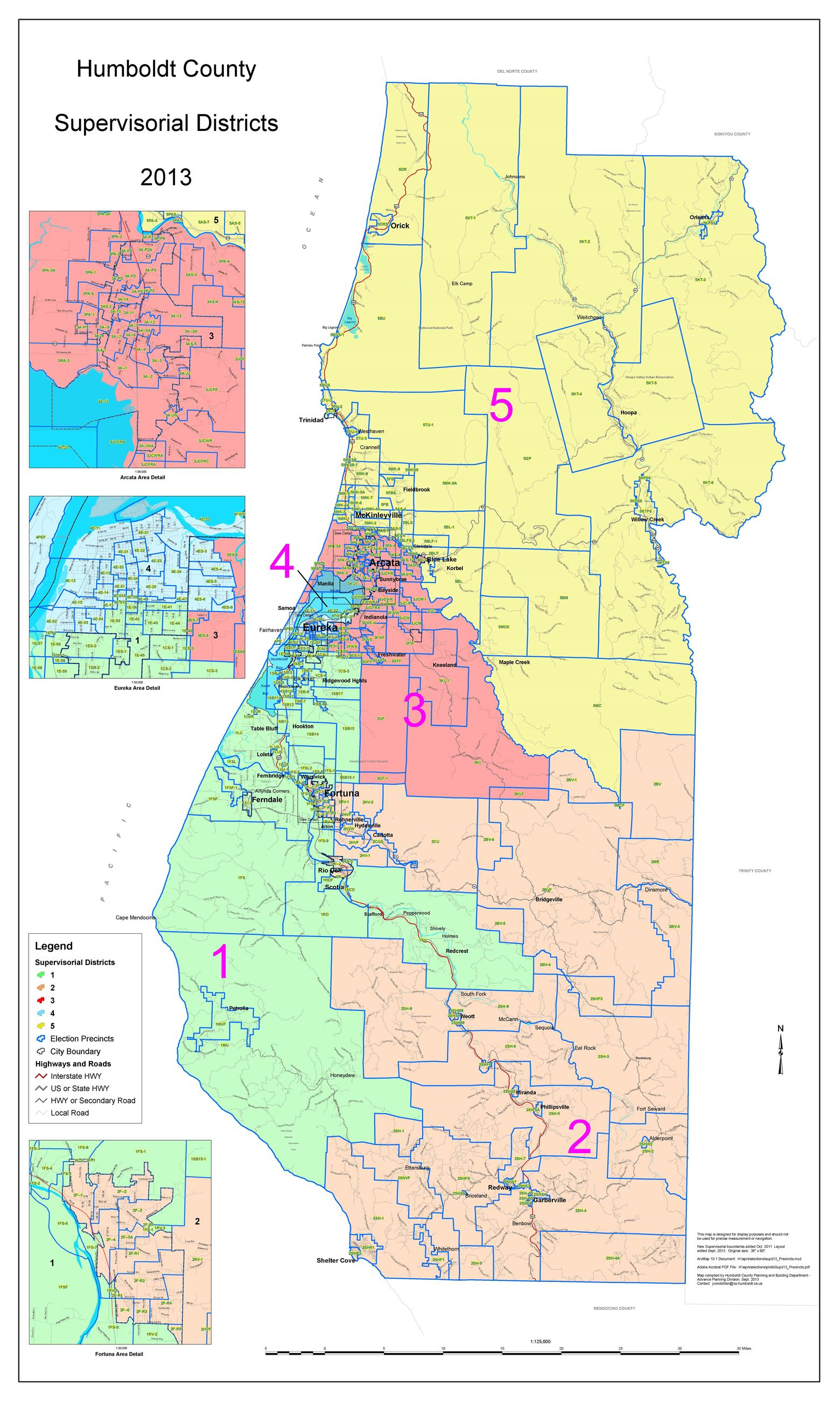 Supervisor District Map