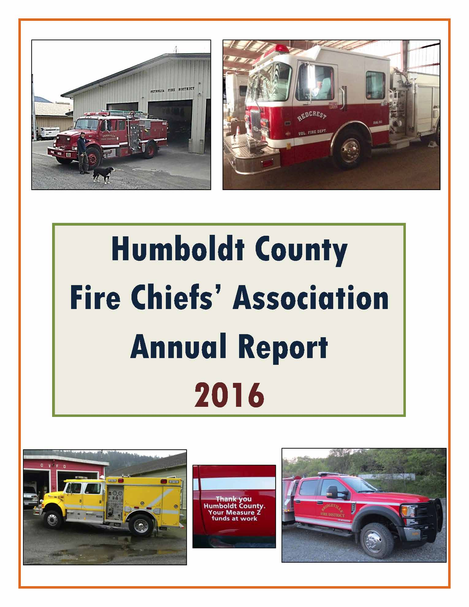Image Link 2016 Fire Chiefs' Association Annual Report