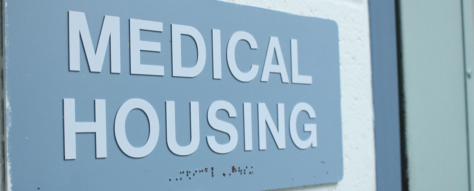 Medical housing sign in jail