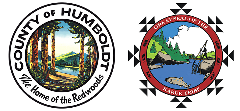 Humboldt County seal and Karuk Tribe seal