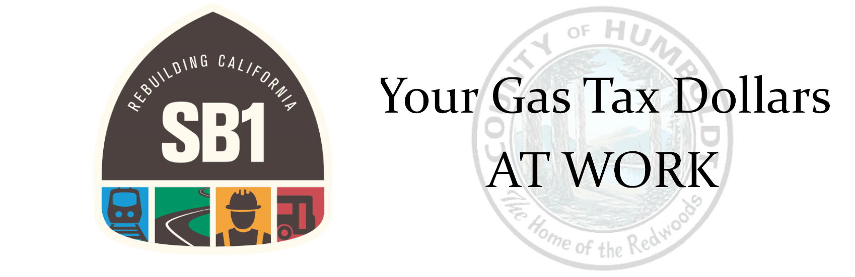 SB1 Gas Tax and Humboldt County logo