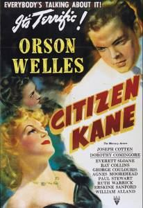 The clean-cut Kane looks down at a seductive blonde on the film poster.