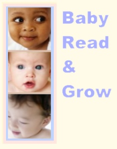 Three lively baby faces illustrate the joys of Baby Read and Grow time.