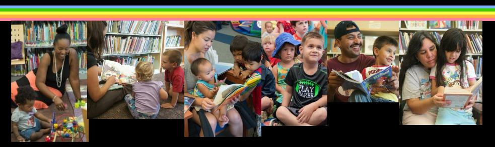 All kinds of children and parents are happy when they use the library!