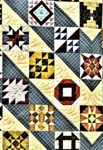 Triangles, squares, and rectangles can make a variety of quilt patterns.