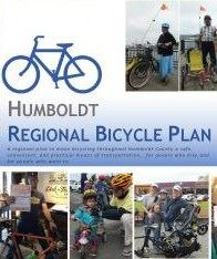 Cyclists wear protective helmets and bright clothing. Humboldt Bike Plan.