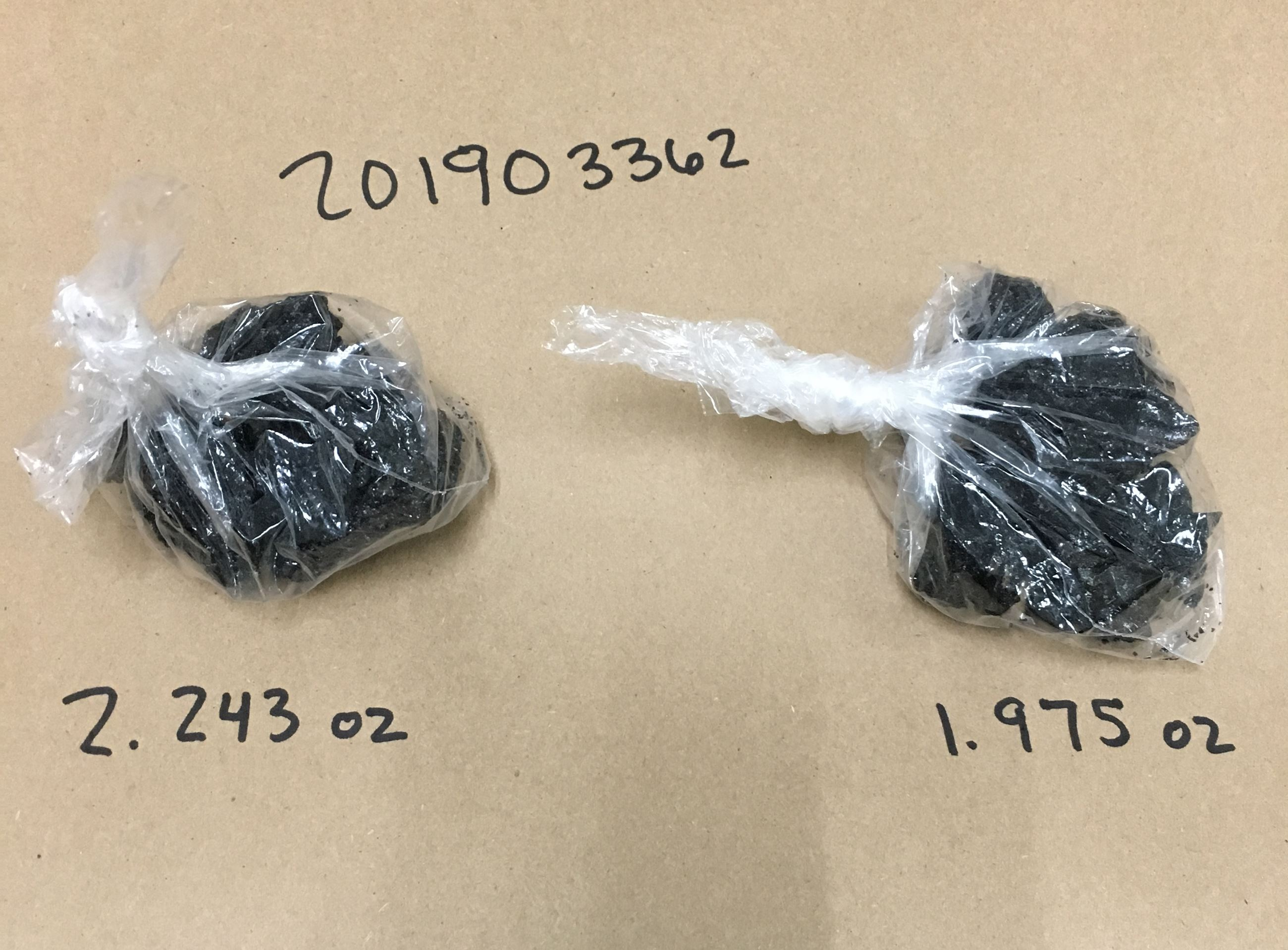Two bags of heroin