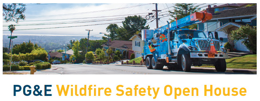 PGE wildfire open house
