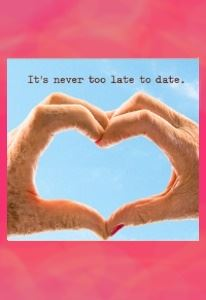 It's never too late to date. Old hands unite in a symbol of love.