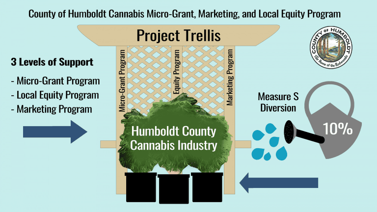 Graphic for Project Trellis showing illustration of its three programs