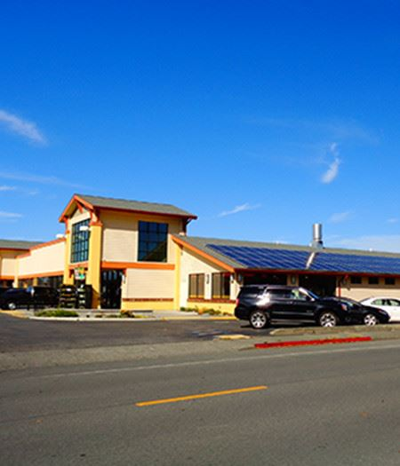 Exterior of Building with Solar Panels