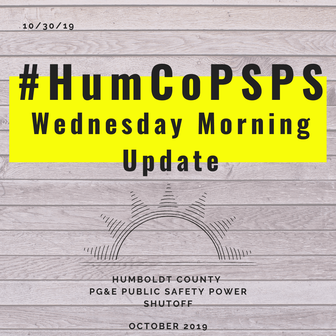 HumCO PSPS Wednesday morning update graphic