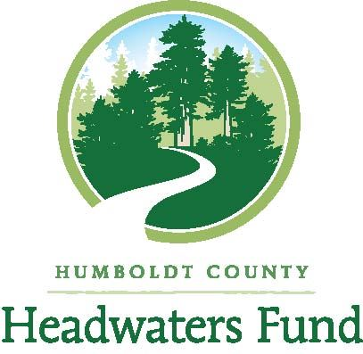 Headwaters Fund logo showing redwood trees and a river running through them