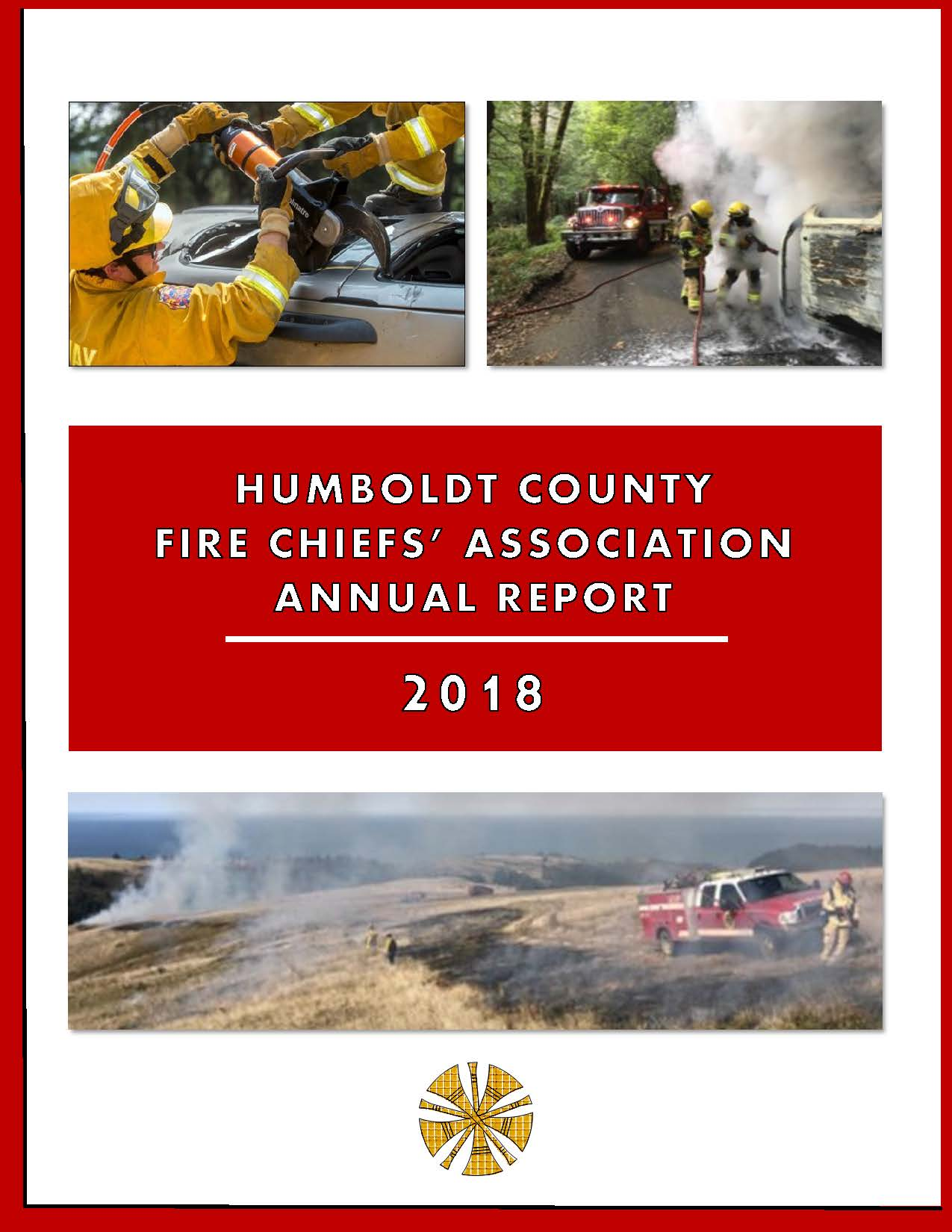 Cover Page of the 2018 Fire Chiefs' Association Annual Report