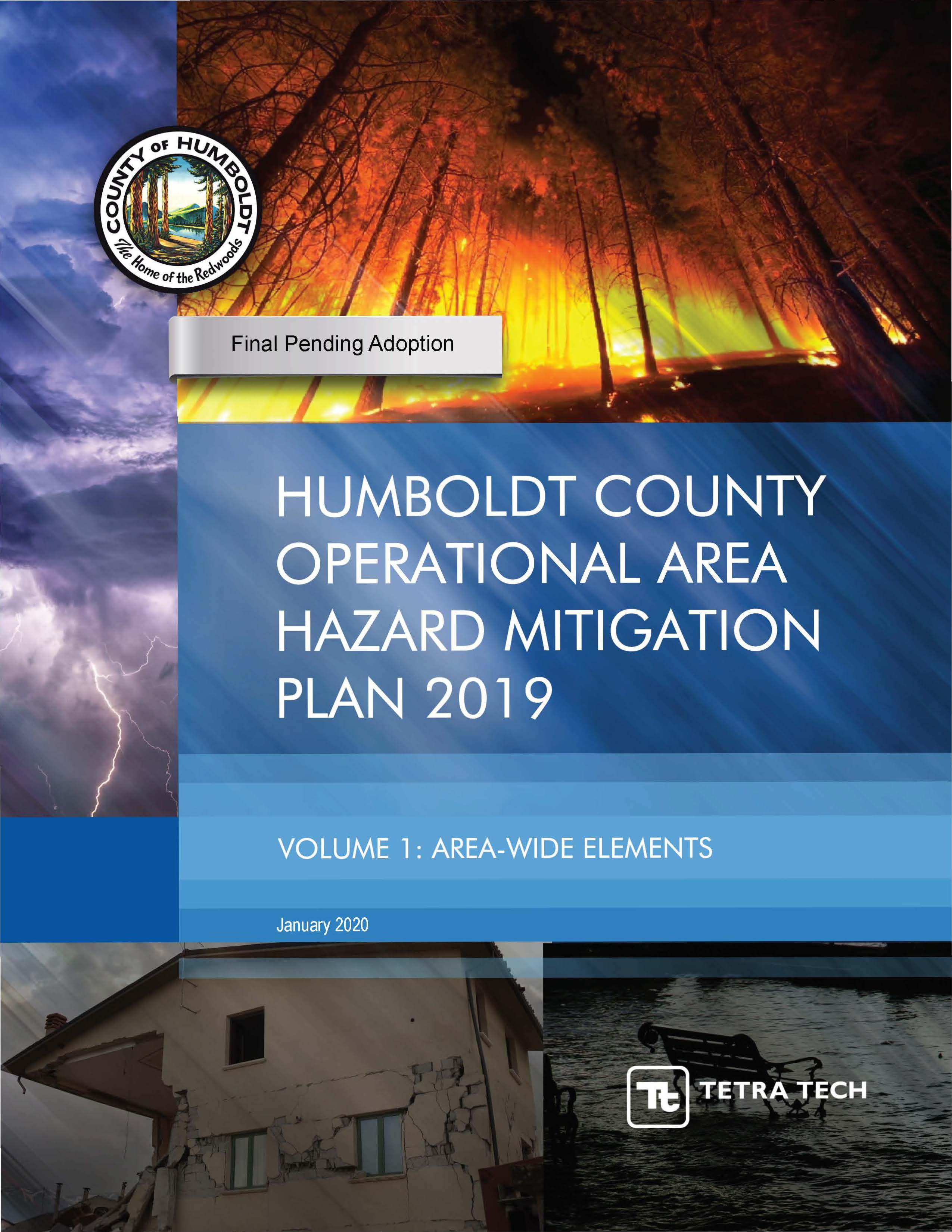 Cover page from Humboldt County HMP_Vol1_Final_2020-01-28