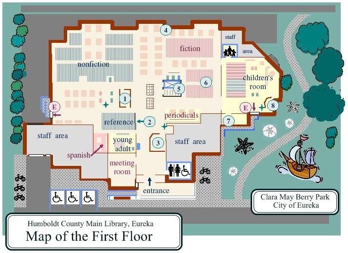 Map of First Floor of Eureka Library