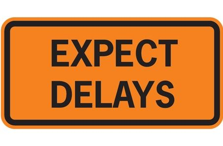 Traffic Delay Sign