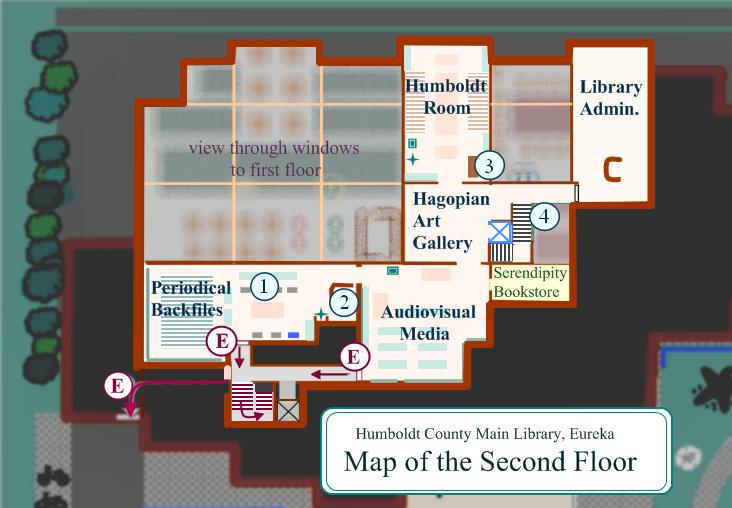 Map of Second Floor