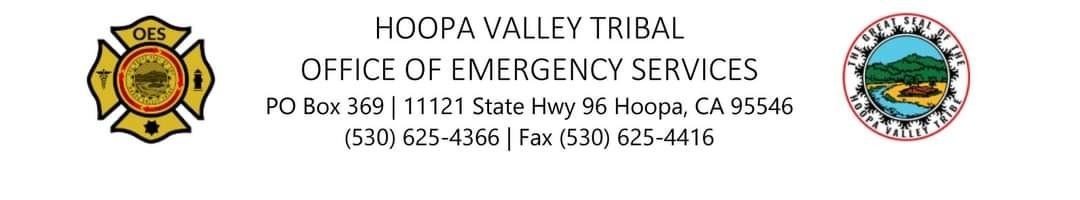 Office of Emergency Services Header with the Great Seal of the Hoopa Valley Tribe
