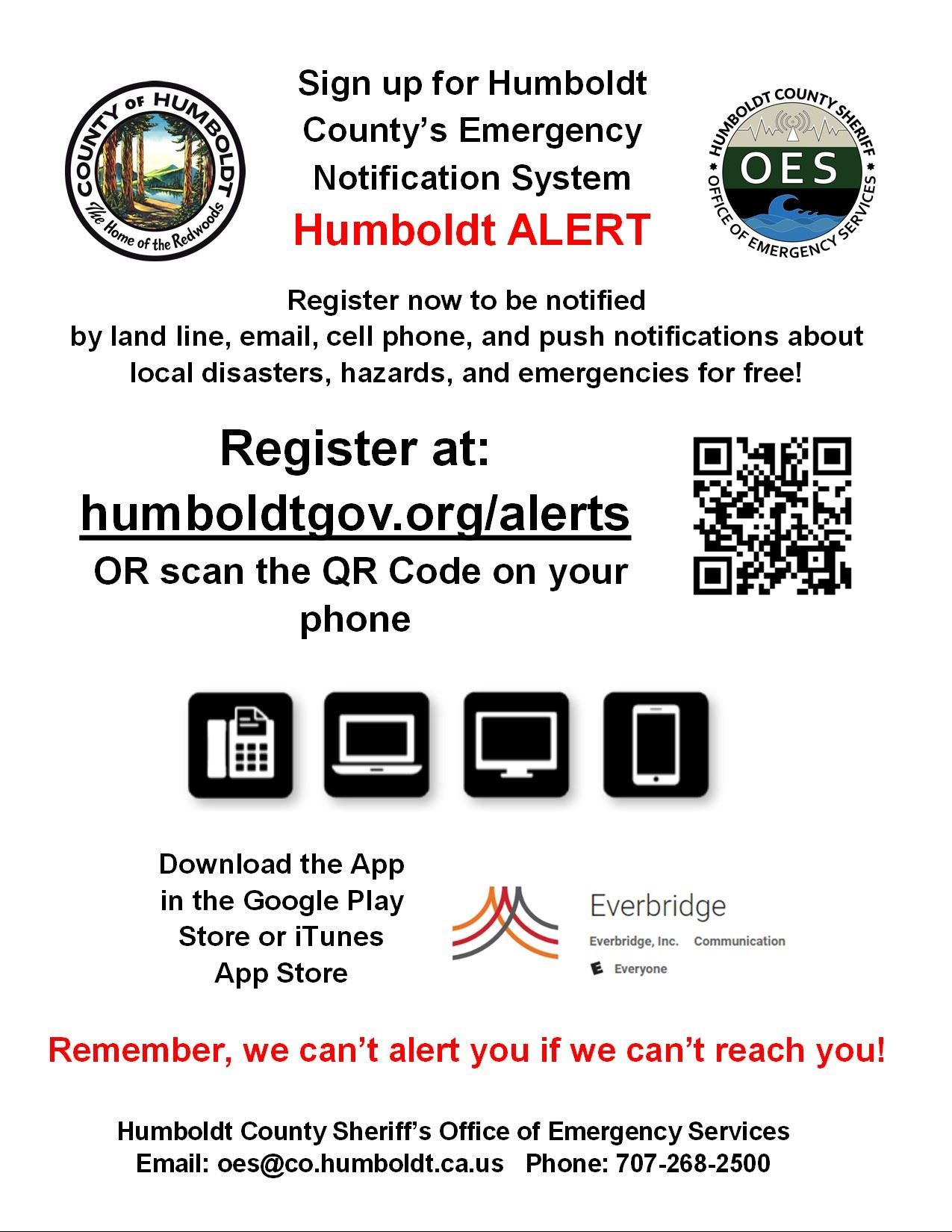 Sign up for Humboldt Alert