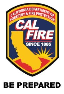 Be Prepared, Info from CalFire