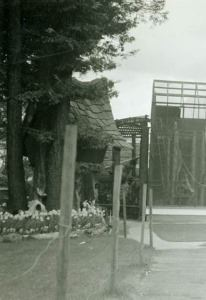 Part of the Zoo is under construction in this HCHS photo, with naked fence posts.