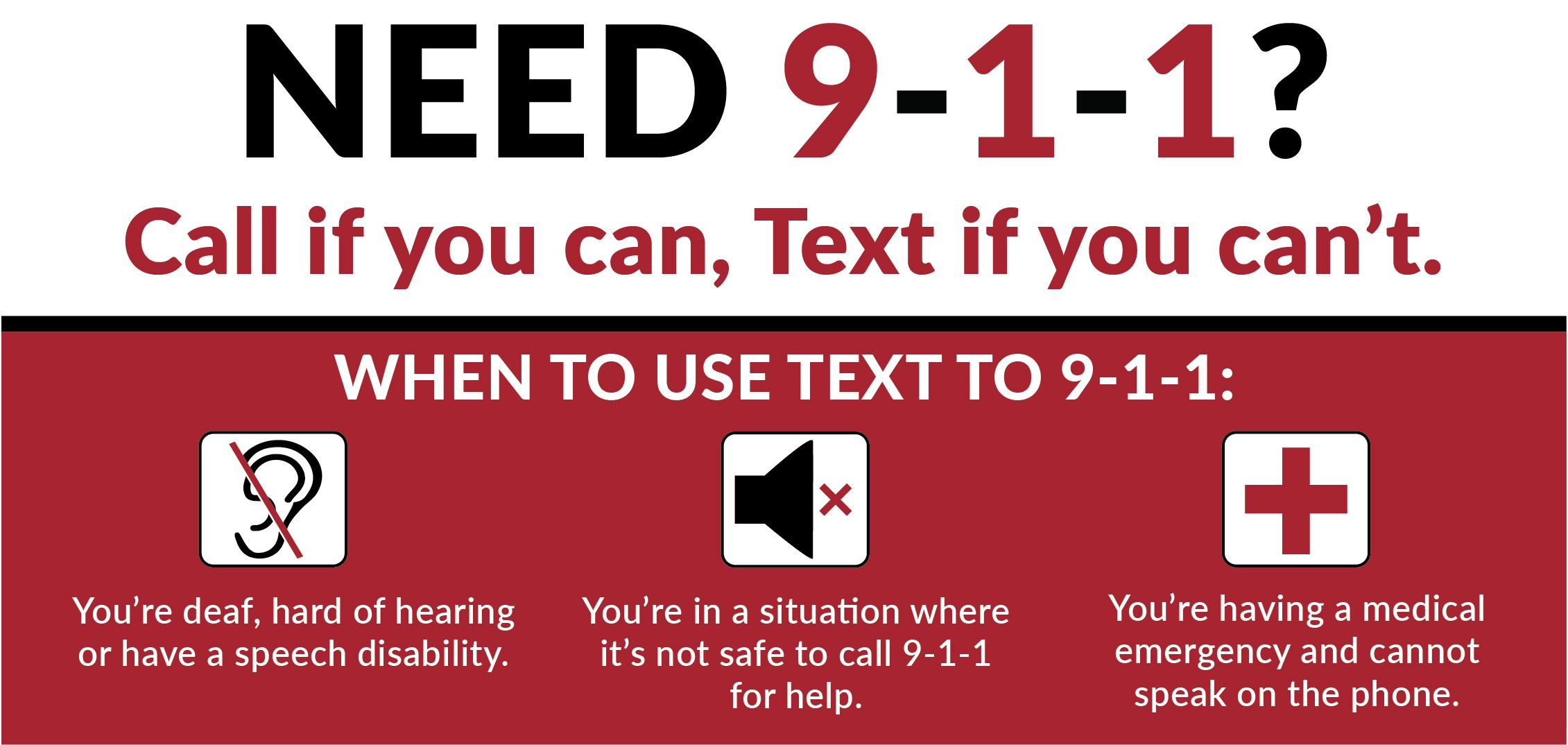 Text to 9-1-1 now available in Humboldt County