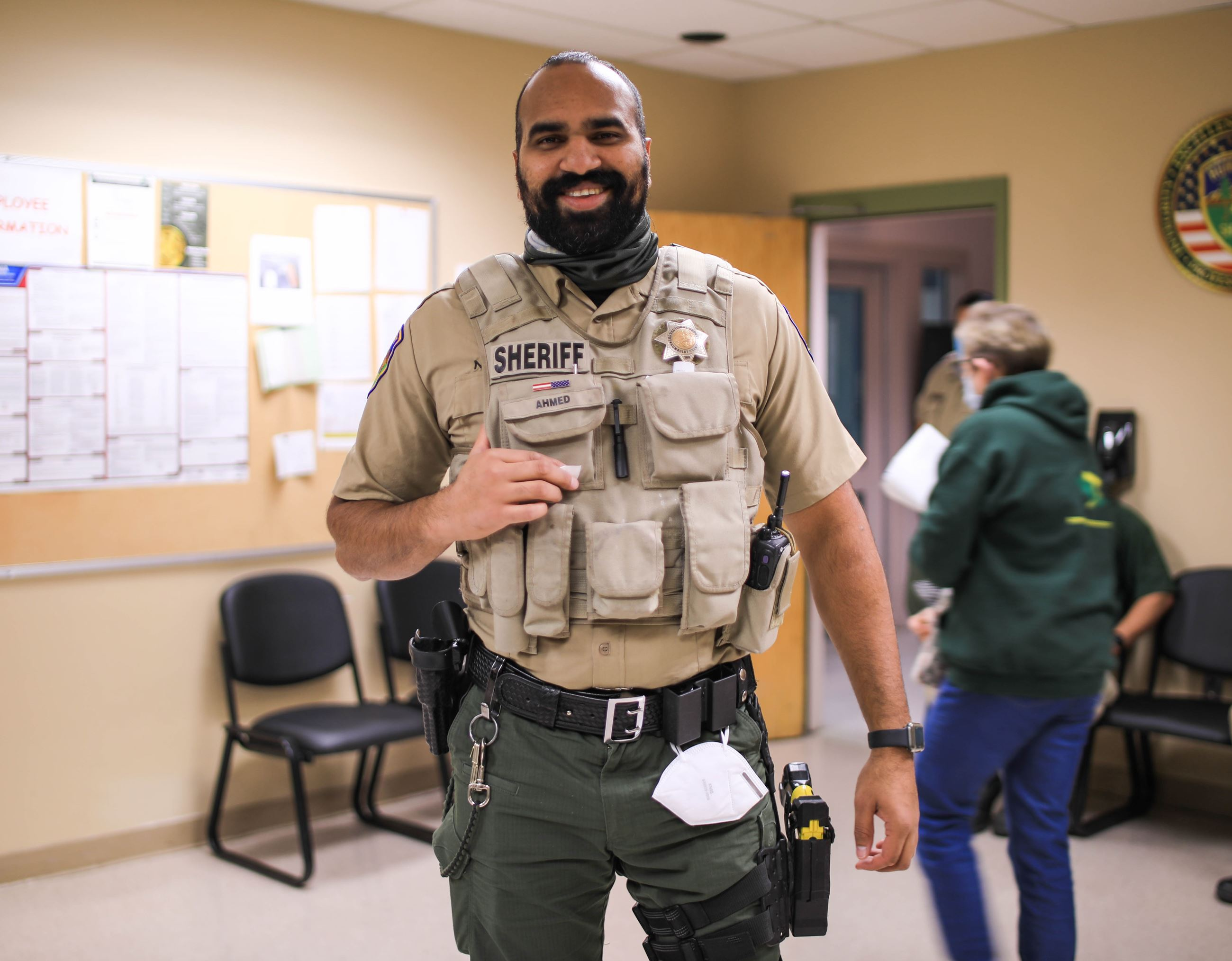 Correctional Deputy Ahmed displays his beard for No Shave November