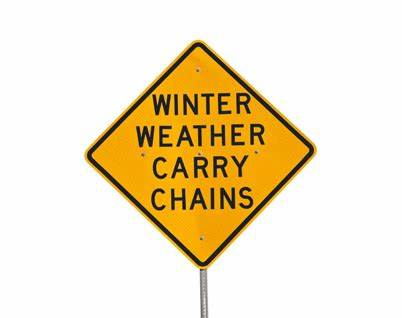 Winter Weather Carry Chains Sign