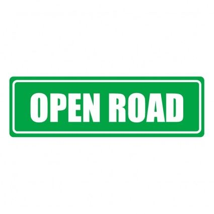 Open Road Sign