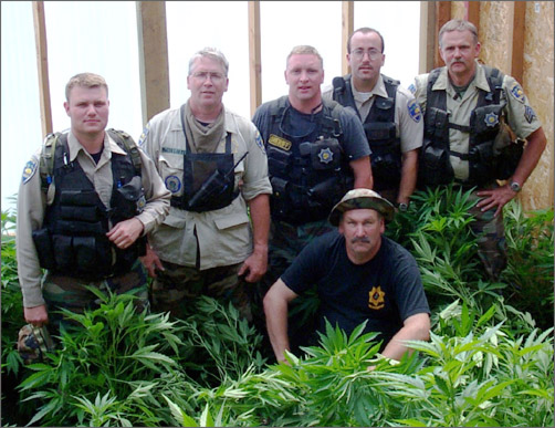 Members of the Humboldt County Drug Enforcement Unit