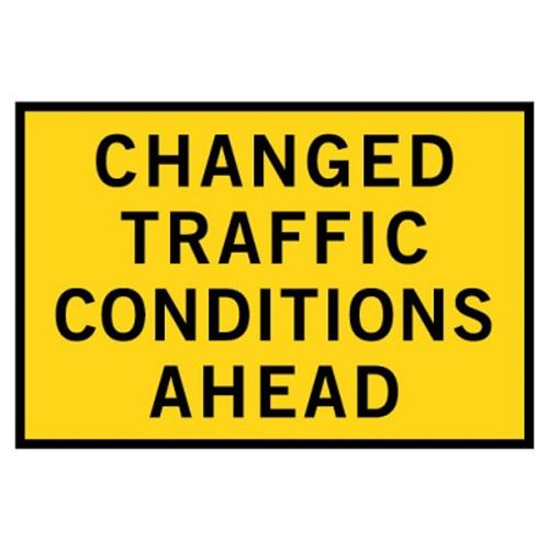 Changed Traffic Conditions Ahead Sign