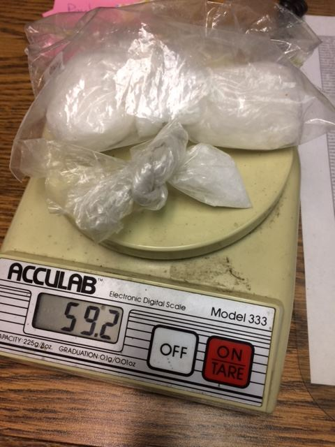 59.2 lbs of suspected methamphetamine