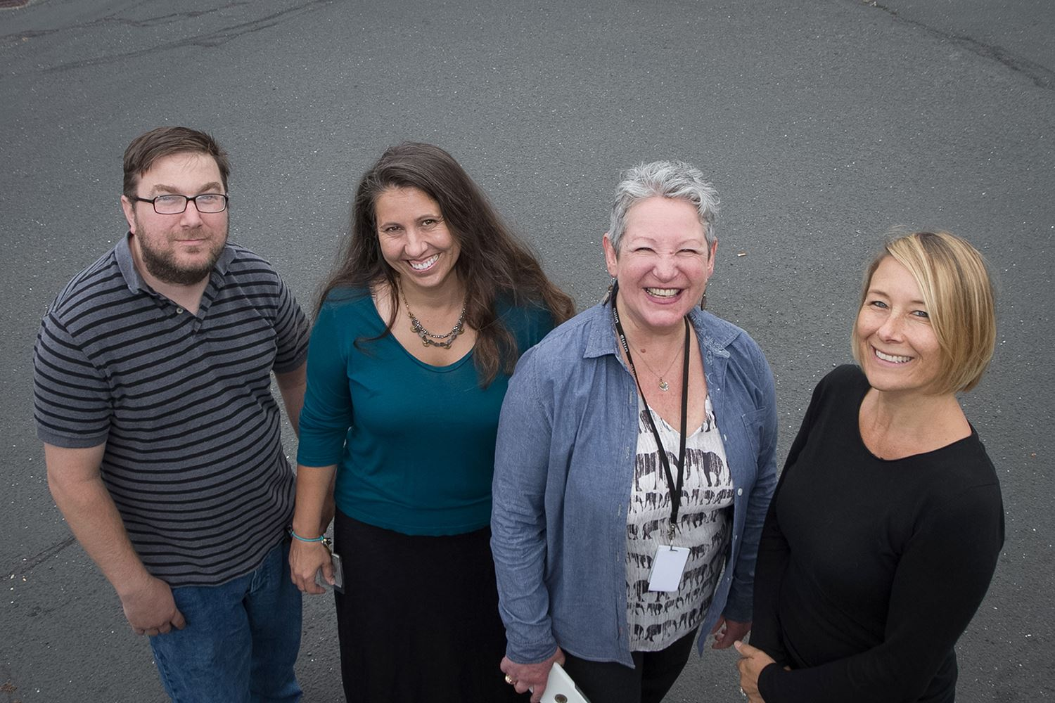 Housing Action Team members Allan Daniel, Lisa Patterson, Pamela Fishtrom and Rosy Provino.
