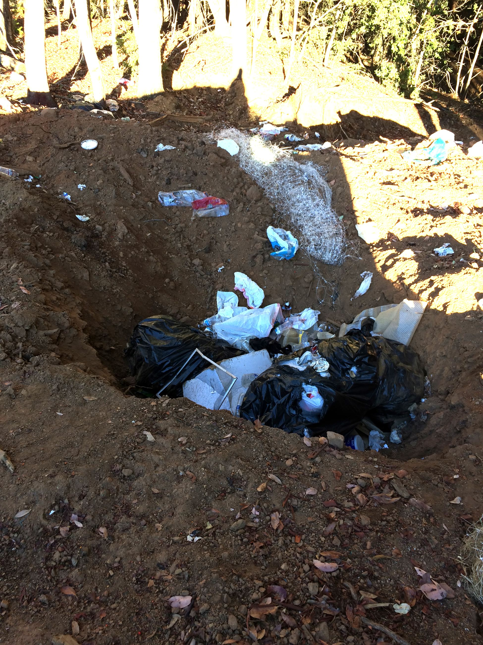 Trash found on the ground during the Rancho Sequoia search warrant.