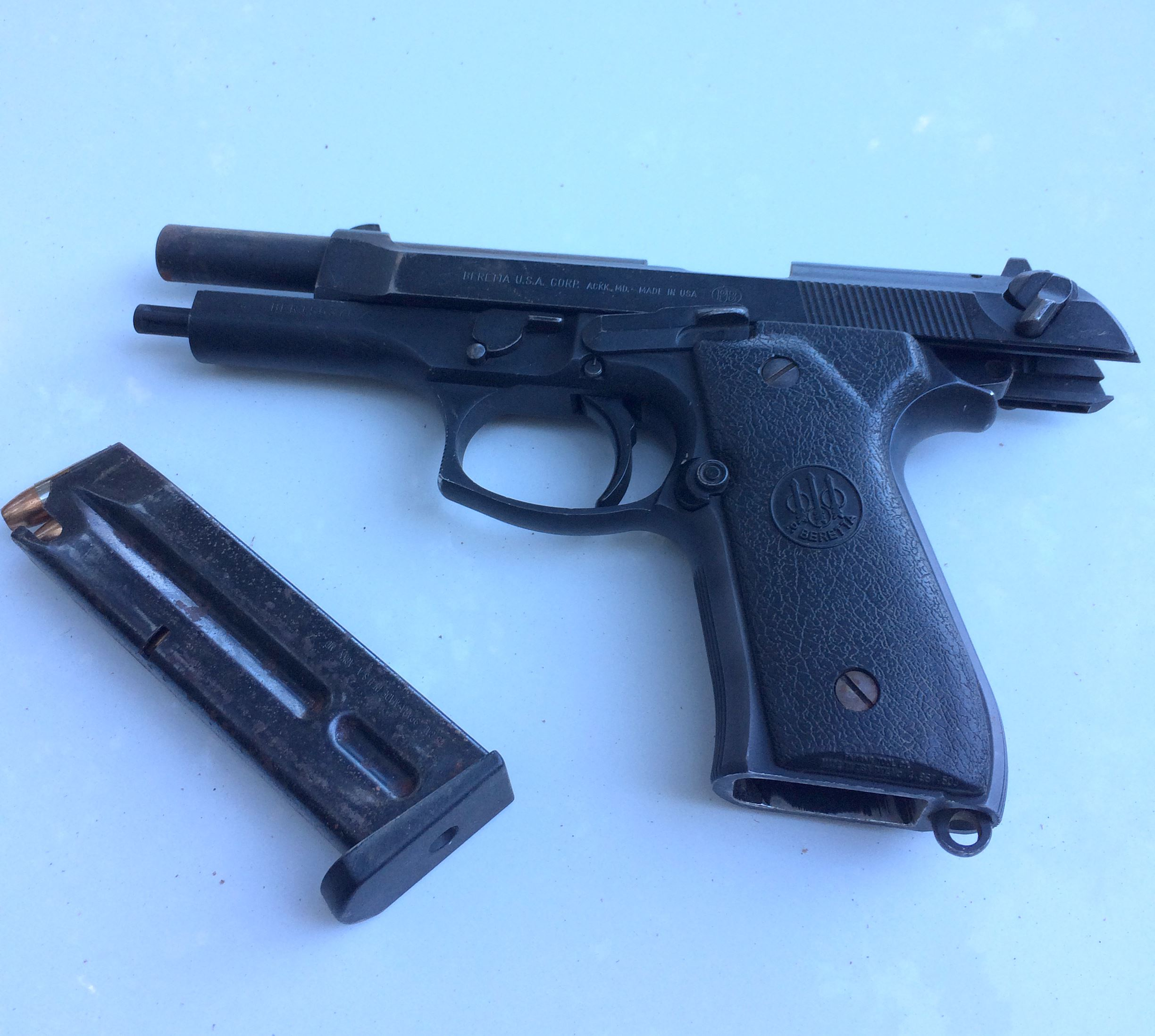 Firearm found during the Rancho Sequoia search warrant.