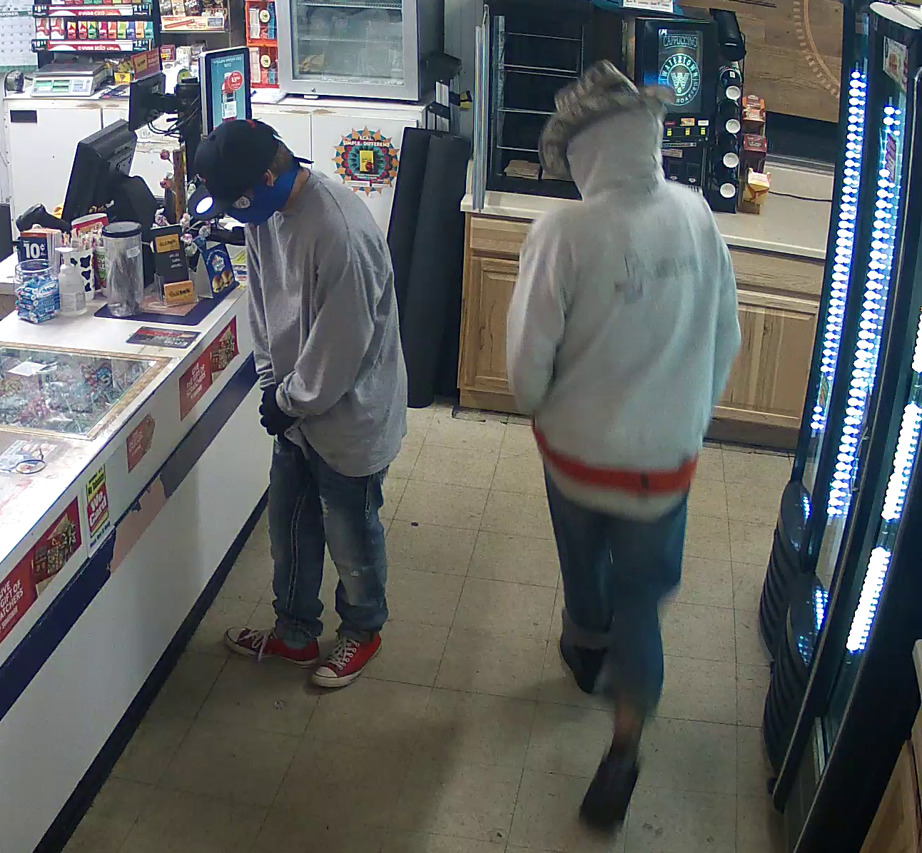 Two men rob store in McKinleyville. One is wearing a cowboy hat and sweatshirt, the other is wearing
