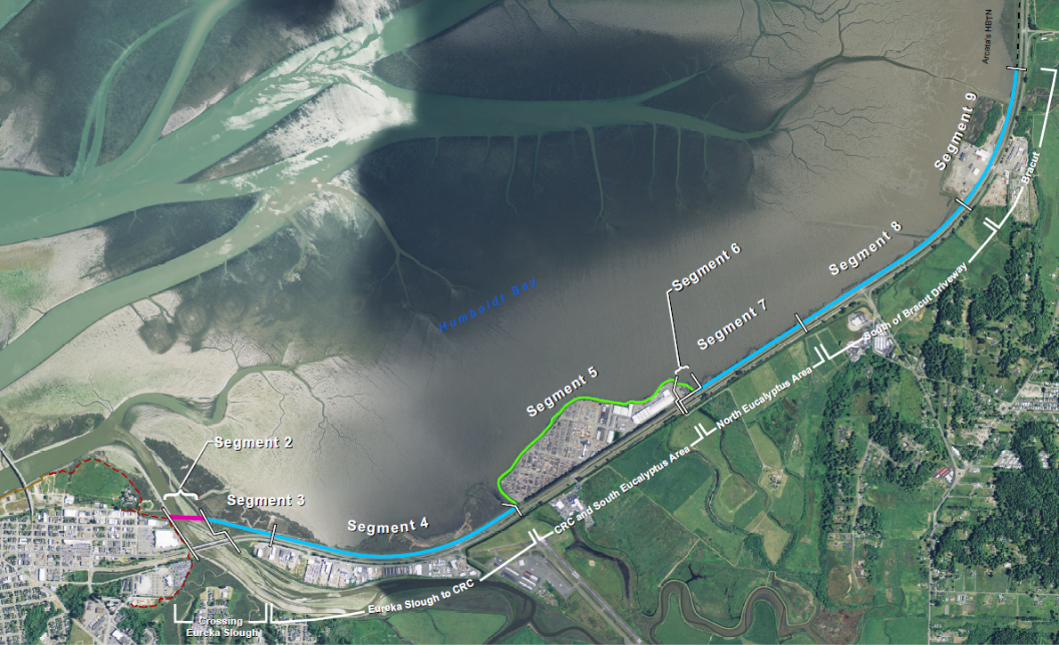 Bay Trail South with segment details