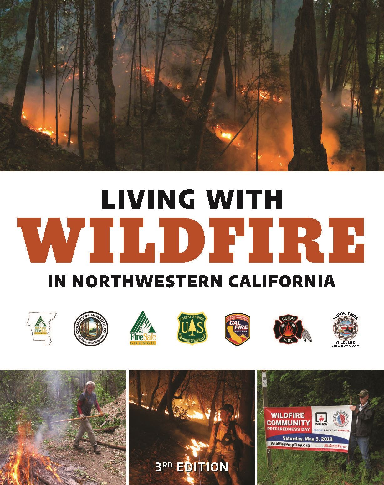 Cover, Living with Wildfire in Northwestern California 3rd Edition