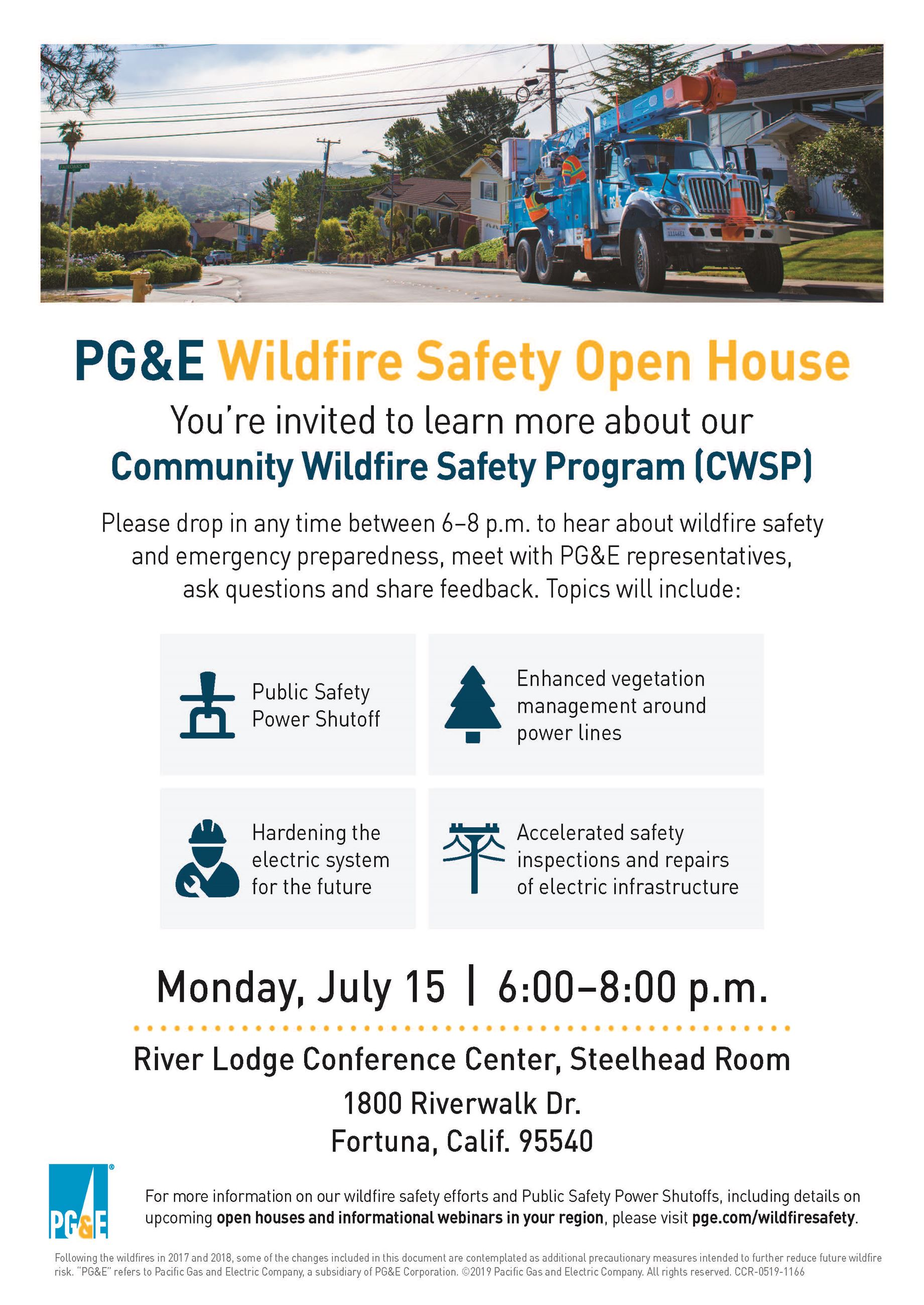PG&E Open House Invitation Flyer