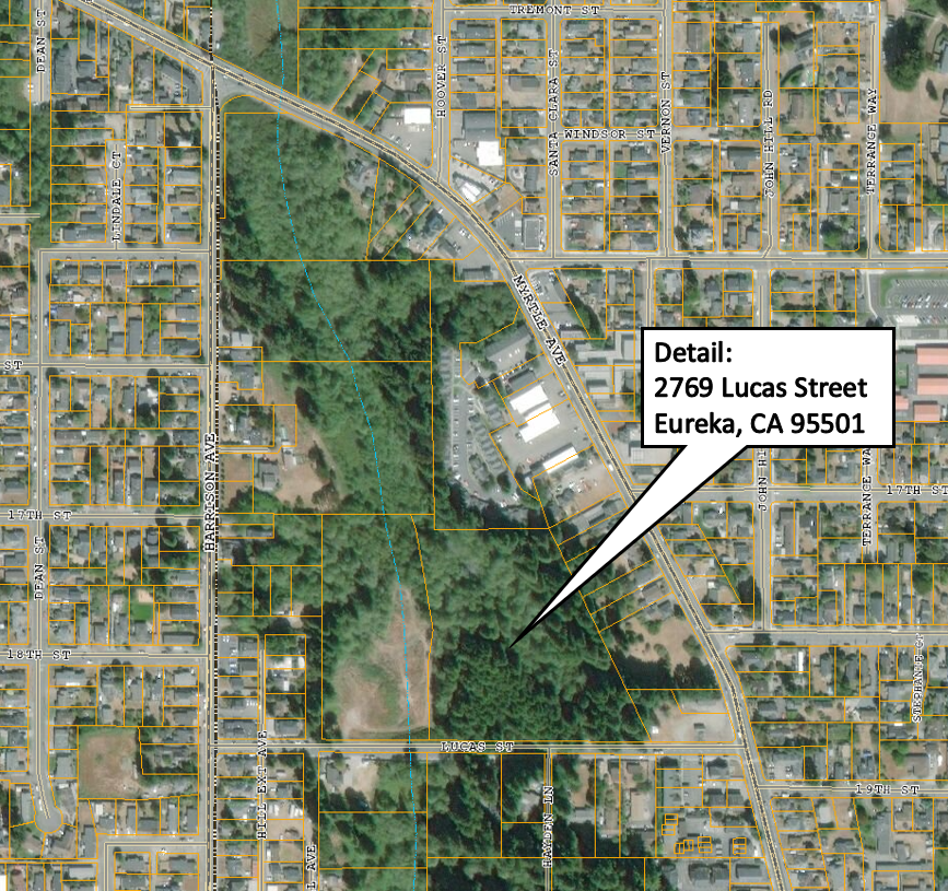 Detailed Map of Lucas Street  Property