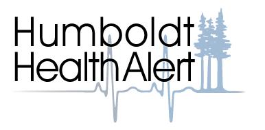 Humboldt Health Alert logo