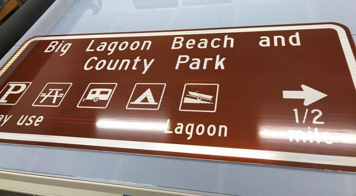 Big Lagoon County Park Sign